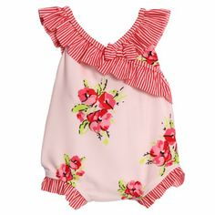 Amazon.com: Absorba Infant Baby Girls 1 Piece Pink Floral Print Striped Swimsuit 12 Months: Clothing