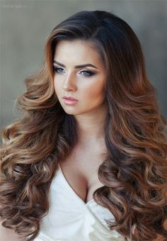 Down Bridal Hairstyle for Long Hair / http://www.deerpearlflowers.com/26-perfect-wedding-hairstyles-with-glam/4/