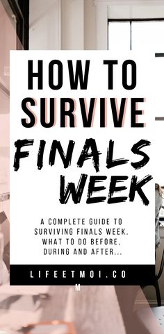 Finals week is the most overwhelming week of the entire semester. Luckily, these tips will help you survive this stressful and overwhelming week. College Hacks, College Life, Finals Week College, Master Degree Programs, Types Of Education, Schools In America, Exams Tips, Exam Study