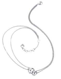 Rhodium Plated Sterling Silver Linked By Love Necklace