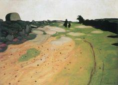 Felix Vallotton - Hedlandskap i Bretagne Edouard Vuillard, Pierre Bonnard, Kunst Online, Online Art, Landscape Art, Landscape Paintings, Figure Painting, Belle Photo, Land Scape