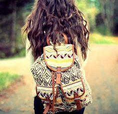 Tribal print backpack<3