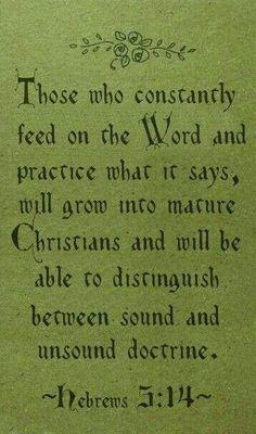 Hebrews 5:14