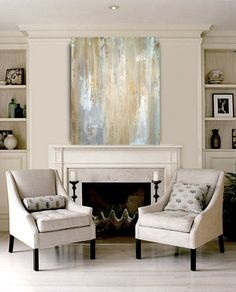 Large Original Abstract Acrylic Painting Fine by OraBirenbaumArt, $325.00