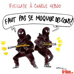 Soutien à Charlie Hebdo : Jour de deuil pour la liberté d'expression - Dessin du jour - Urtikan.net