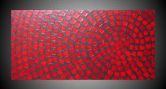 48 x 24 ORIGINAL Abstract Acrylic Painting Art Deco Textured Grey Red Squares Modern Ready to Hang FREE SHIPPING. $339.00, via Etsy.