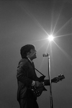 John Lennon at the Washington Coliseum in Washington, D.C., February 11, 1964.