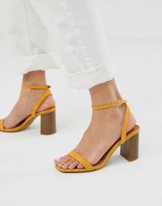 b2949677e66 DESIGN Hong Kong barely there block heeled sandals