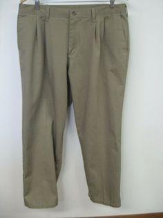 ffdca294 timber creek by wrangler 36x30 pleated no cuffs 100% cotton khaki #fashion # clothing