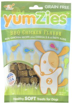 Nootie Yumzies Natural BBQ Chicken Flavor Dog Treats, 6 oz. -- Find out more details by clicking the image : Dog Treats