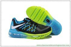huge selection of 7a101 553ce Zapatillas de Running Baratas Nike Air Max 2015 Niños Negro,Verde,Azul  KN0046 78