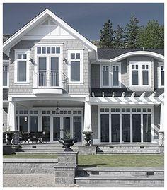 Casement Windows open up your world! House Windows, Facade House, Windows And Doors, House Facades, Front Windows, House Exteriors, Grey Houses, Casement Windows, Exterior House Colors