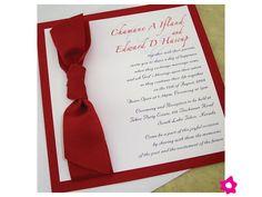invitaciones de boda elegantes color rojo - Buscar con Google