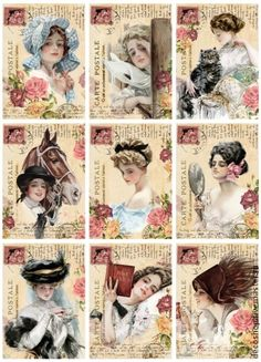 Vintage ladies printable