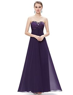 HE09568PP10 Purple 8USEver Pretty Strapless Evening Dresses For Women 09568 -- Be sure to check out this awesome product.