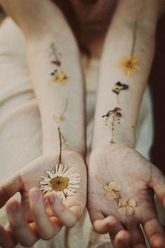 押し花タトゥー