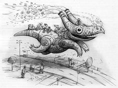 Artist and illustrator Shaun Tan's sketch adorns the cover of Aussiecon 4 Progress Report #2
