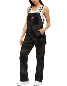 4e67c3bd72745d Dickies Girl Juniors  Pinstripe Overalls - Dickies US White Girl Outfits