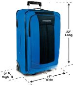 Carry-on rules from American Airlines  Carry-On Bags Cannot Exceed 22 Inches Long, 14 Inches Wide And 9 Inches Tall