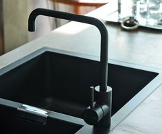 Kitchen Faucets Ideas 10 Easy Pieces: Matte Black Kitchen Faucets - A matte black faucet is a bold statement, but it's also one that's versatile (think graphic Scandi or extreme gothic) and is generally trend-resistant.