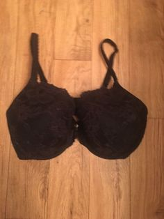 4593182a00 Body by Victoria s Secret Lined Perfect Coverage Bra Black Lace 36DDD Pre  Owned  fashion