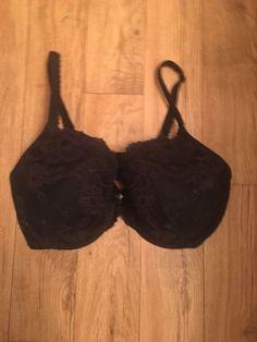 4e3cab84cfa Body by Victoria s Secret Lined Perfect Coverage Bra Black Lace 36DDD Pre  Owned  fashion