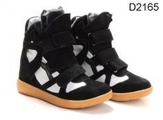 Isabel Marant Sneakers Suede Black White   $172.00