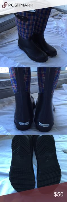 Plow and hearth waterproof boots Plow and hearth waterproof boots never worn super cute! Hunter Boots Shoes