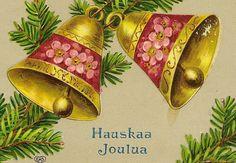 Finnish Vintage Christmas Postcard Hauskaa by TheOldBarnDoor
