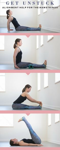 Get Unstuck: Alignment Help for the Hamstrings | Hamstrings holding you back? The key to their release may lie not in longer, deeper stretches, but rather in healthy weight-bearing and alignment habits in your yoga practice and throughout your life. These good habits will serve to release the connective tissue binding the hamstrings.