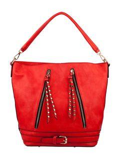 Shop Prima Donna - Bouvet Belted Bucket Bag Coral