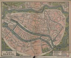 Mapy i plany, Gdańsk - 1887 rok, stare zdjęcia
