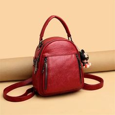 Mini Mochila, Leather Backpacks, Mary Kay, Fashion Backpack, Shoulder Bag, Wallet, Bags, Tejido, Shoes