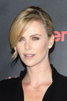 Charlize Theron's nude lips. See 9 other celebrities whose spring beauty looks killed it.