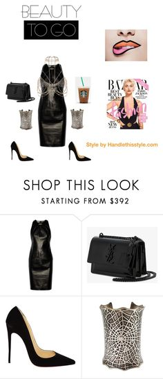 """""""Boss Lady 😍😘❤️💪👊"""" by handlethisstyle ❤ liked on Polyvore featuring Versace, Yves Saint Laurent, Christian Louboutin and River Island"""
