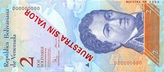 Pieza bbcv2bsf-ab01s (Anverso). Billete del Banco Central de Venezuela. 2 Bolívares Fuerte. Diseño A, Tipo B. Fecha Diciembre 19 2008. Serie D8. Billete tipo specimen