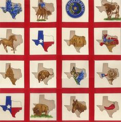 Deep In The Heart Of Texas Panel by Sara by AudreysFabricAndTrim