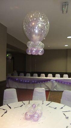 """16"""" balloon centerpiece.  #balloon wedding centerpiece #balloon-wedding-centerpiece #balloon wedding decor #balloon-wedding-decor"""