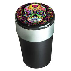 Portable Butt Bucket Cup Holder Cigarette Ashtray with LED Light Novelty Inc Peace