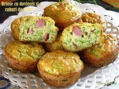 briose-cu-dovlecei-si-cuburi-de-sunca-2-1 Appetizer Recipes, Appetizers, Cooking Light, Muffin, Food And Drink, Cooking Recipes, Snacks, Breakfast, Cupcakes