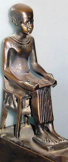 Imhotep - chief vizier of the Pharaoh Djoser. Architect of the step pyramid at Saqqara