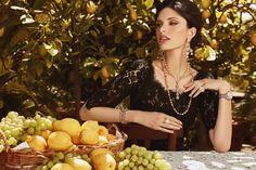 Giulia Manini stars in Dolce & Gabbana's 2017 Jewellery campaign