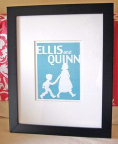 Personalized silhouette of the kids
