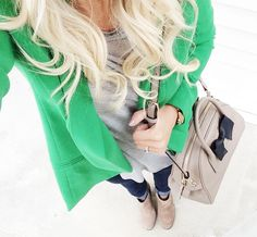 Green blazer love