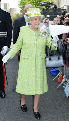 Queen Elizabeth II meets the public on her 90th Birthday Walkabout on April 21, 2016 in Windsor, England.