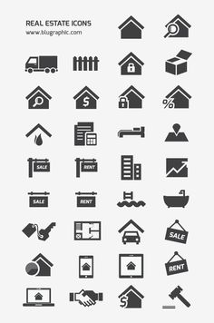 Free Vector Real Estate Icons, #AI, #EPS, #Free, #Graphic #Design, #Icon, #Real_Estate, #Resource, #Vector