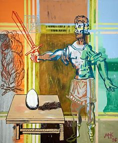 Martin Kippenberger, Des Philosophens Ei (Philosopher's Egg), 1996 Oil on canvas 70.87 x 59.06 inches (180 x 150 cm)