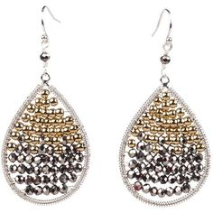 Nakamol Metallic Teardrop Earrings ($29) ❤ liked on Polyvore