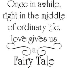 Design on Style 'Love Gives Us a Fairy Tale' Vinyl Wall Art Quote, Black