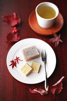 Japanese sweets / 栗きんつば、くりは奈
